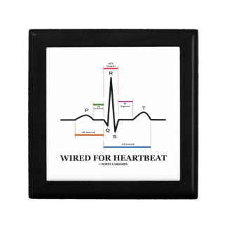 Wired For Heartbeat (Electrocardiogram) Small Square Gift Box