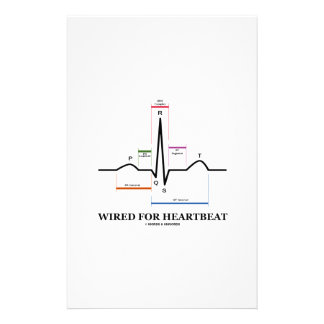 Wired For Heartbeat (Electrocardiogram) Personalised Stationery