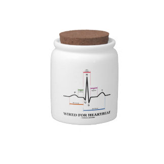 Wired For Heartbeat (Electrocardiogram) Candy Jars