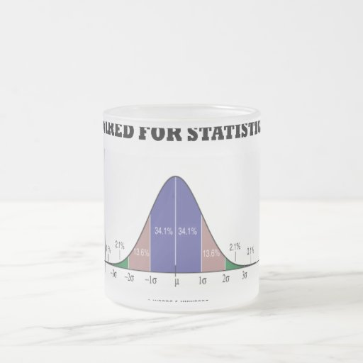 Wired For Statistics (Bell Curve Stats Attitude) Mug