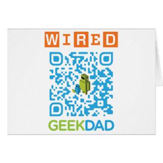 Wired Geek Dad QR Code Cards
