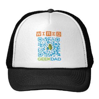 Wired Geek Dad QR Code Hats