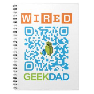 Wired Geek Dad QR Code Note Books