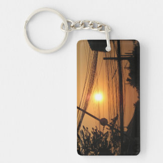 Wired Sunset ... Krung Thep, Thailand Key Ring