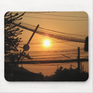 Wired Sunset ... Krung Thep, Thailand Mouse Pad