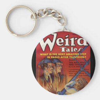 Wired Tales_Pulp Art Basic Round Button Key Ring
