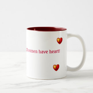 WIRED women have heart  red mug