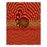 Wireframe Mollusks Radiate Thought Bubbles Poster