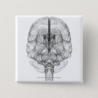 Wireframe of the brain 15 cm square badge