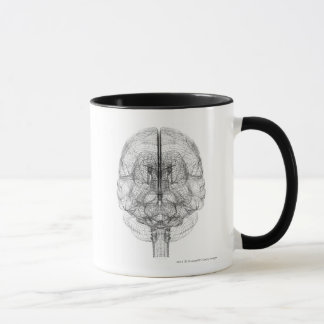 Wireframe of the brain mug