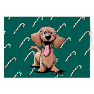 Wirehaired Dachshund Christmas Card