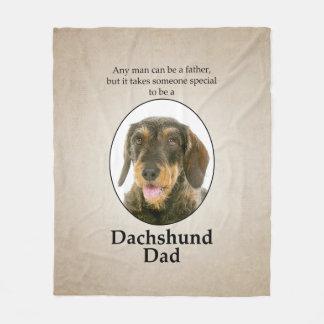 Wirehaired Dachshund Dad Fleece Blanket