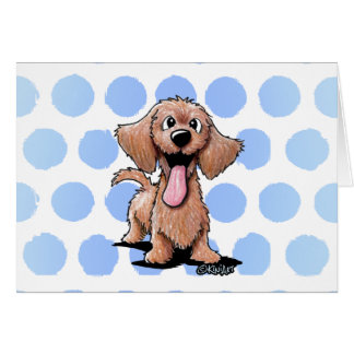 Wirehaired Dachshund KiniArt Card