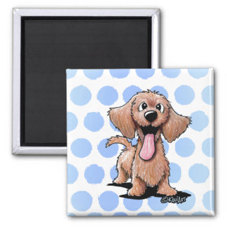 Wirehaired Dachshund KiniArt Square Magnet