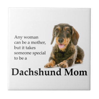Wirehaired Dachshund Mom Tile