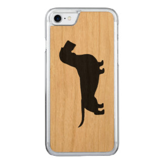 Wirehaired Dachshund Silhouette Carved iPhone 8/7 Case