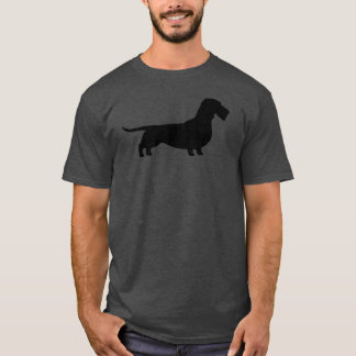 Wirehaired Dachshund Silhouette T-Shirt
