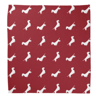 Wirehaired Dachshund Silhouettes Pattern Do-rags