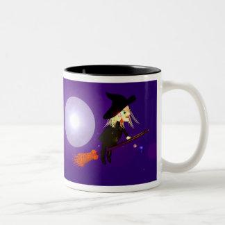 Wireless Halloween Witch Two-Tone Mug