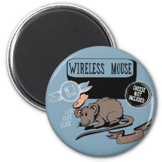 Wireless Mouse ~ Funny New Geek Gift Fridge Magnet