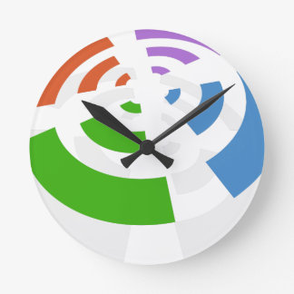 Wireless Signal Icon Wallclock