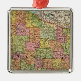 Wisconsin 2 Silver-Colored square decoration
