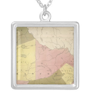 Wisconsin 2 silver plated necklace
