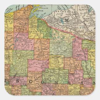 Wisconsin 2 square sticker