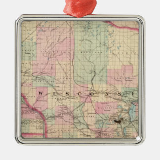Wisconsin 3 christmas ornament