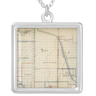 Wisconsin 3 silver plated necklace
