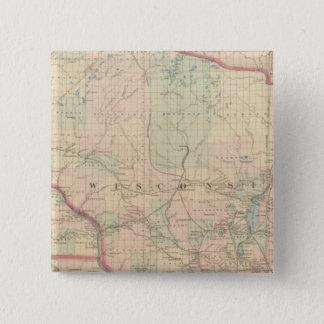 Wisconsin 4 15 cm square badge