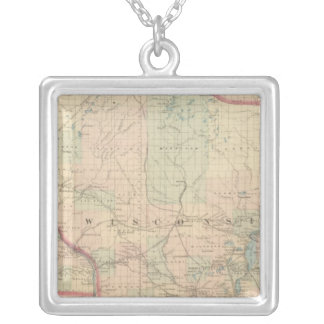 Wisconsin 4 silver plated necklace