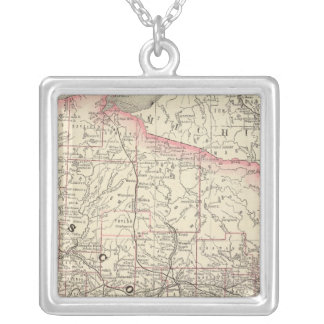 Wisconsin 5 silver plated necklace