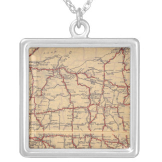 Wisconsin 6 silver plated necklace