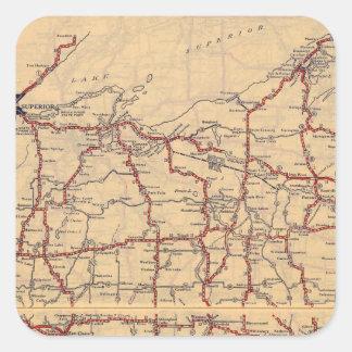 Wisconsin 6 square sticker