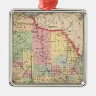 Wisconsin 7 Silver-Colored square decoration