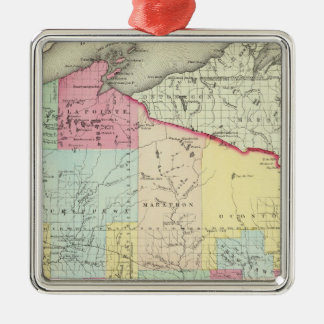 Wisconsin 8 christmas ornament