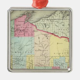 Wisconsin 8 Silver-Colored square decoration