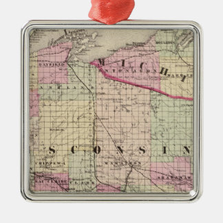Wisconsin 9 christmas ornament