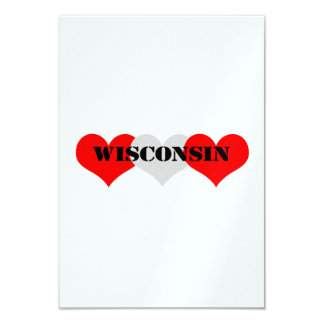 Wisconsin 9 Cm X 13 Cm Invitation Card