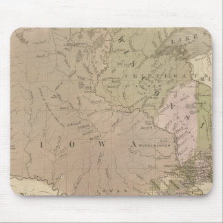 Wisconsin and Iowa Mouse Mat