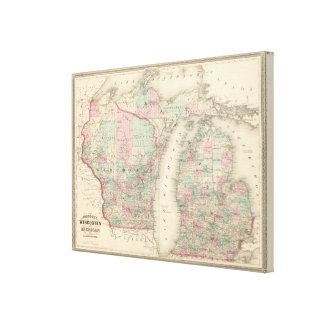 Wisconsin and Michigan Canvas Print