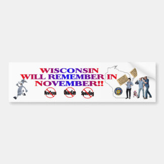 Wisconsin - Anti ObamaCare, New Taxes & Spending Bumper Sticker