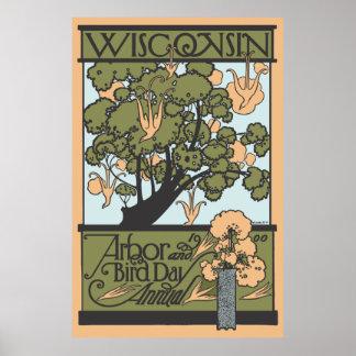 Wisconsin Arbor & Bird Day 1900 Poster