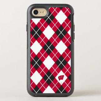 Wisconsin | Argyle Pattern OtterBox Symmetry iPhone 8/7 Case