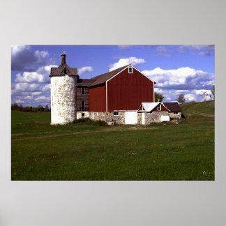 Wisconsin Barn with Brick Silo Print
