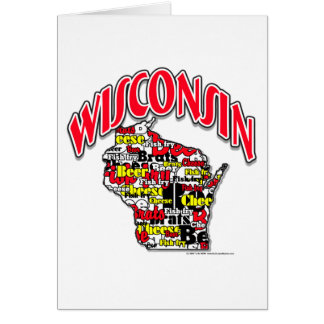 Wisconsin Beer Brats Cheese Fish-Fry Greeting Card