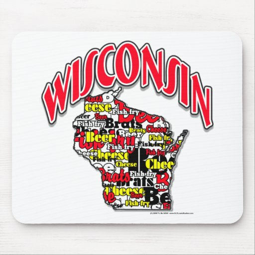 Wisconsin Beer Brats Cheese Fish-Fry Mouse Mats
