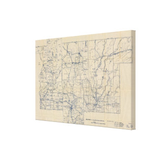 Wisconsin Bicycle Road Map 2 Canvas Print