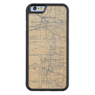 Wisconsin Bicycle Road Map 2 Carved Maple iPhone 6 Bumper Case